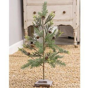 """Glittered Pine 21"""" Faux Tree with Glittered Base"""